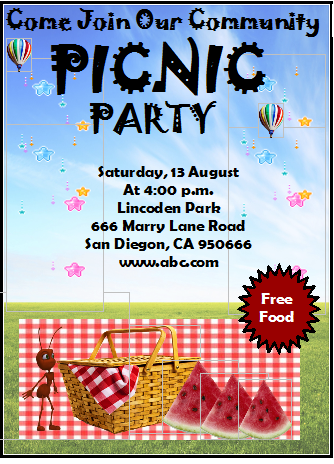 Preparing The Kids Picnic Party Technology Updates