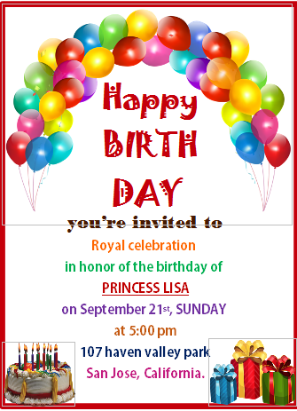 Open Office Birthday Party Flyer Template
