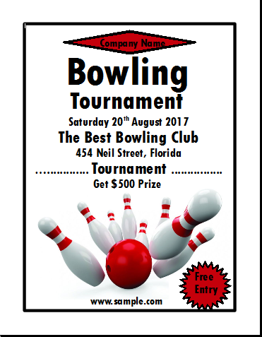 Unique Bowling Fundraiser Flyer Template Inspiration Resume Ideas
